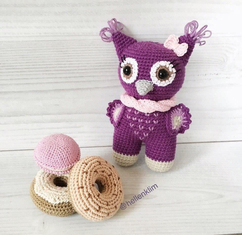 Crochet Baby-owl Amigurumi  - 35 Free Crochet Owl Patterns - Crochet Amigurumi | #crochet #crochetpattern #freecrochetpattern #freepattern #crochetlove #diy #gifts #diygifts #crafts  #amigurumi #amigurumipattern #amigurumicrochet #crochetamigurumi