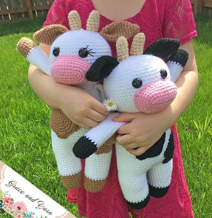 Crochet Cow Amigurumi - Free Pattern,toy cow,cute amigurumi cow, toy pattern