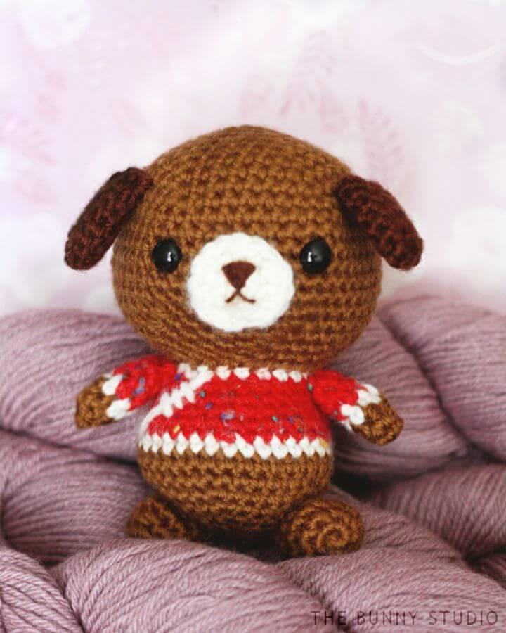 How to Crochet Dog Amigurumi, free dog crotchet, dog crotchet pattern, cute dog amigurumi toy pattern, dog lover