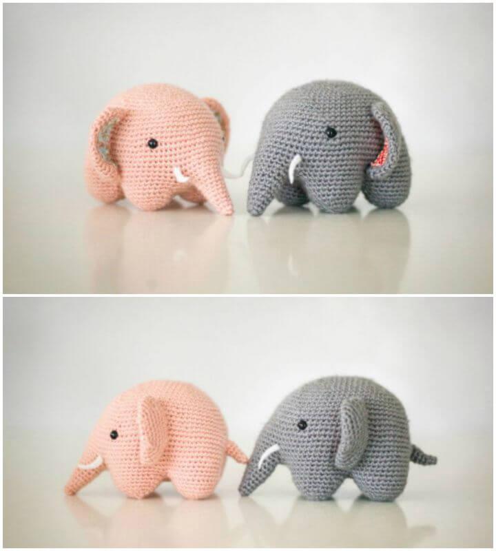 11 Free Crochet Elephant Patterns | 800x720