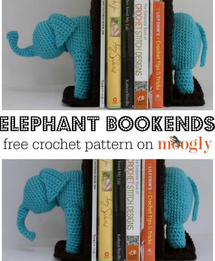 How to Crochet Elephant Bookends Amigurumi,bookends,amazing