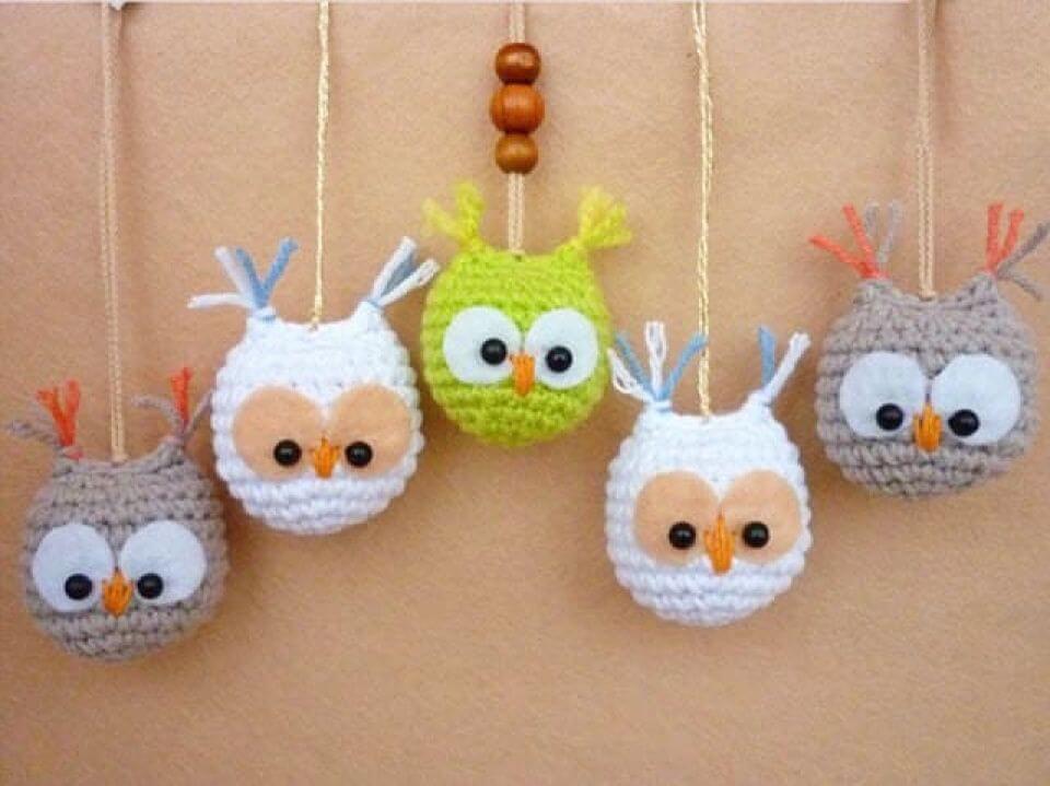 How to Crochet Owl Keychain,cute keychain,owl keychain,simple amigurumi design